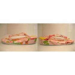 オーダー草履 小判型 ピンク オリジナル草履