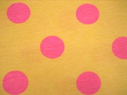黄色 ピンク 水玉 ドット