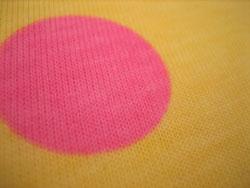 黄色 生地 ピンク 水玉 ドット