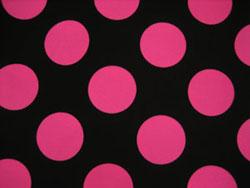 黒 ピンク 水玉 ドット