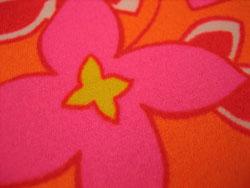 花オレンジ 生地