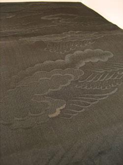 着物リメイク 黒 帯